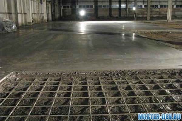 Razmerje betonskih estrihov