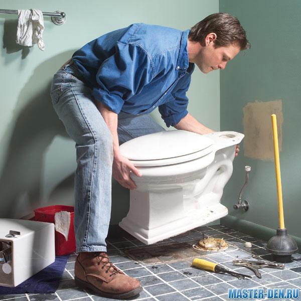 Пол для туалета своими руками
