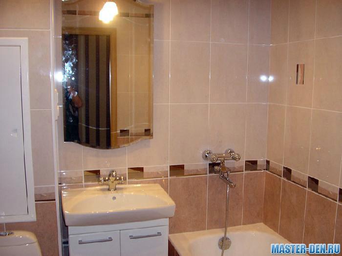 Ремонт ванной комнаты плиткой в